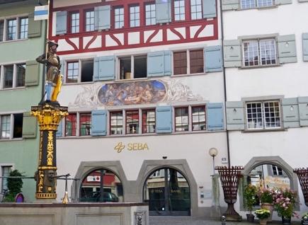 Der Hauptsitz der SEBA-Bank in Zug (Bild: SEBA)