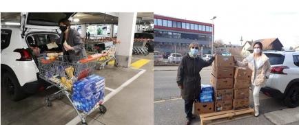 Grosseinkauf und Abgabe der Lebensmittel in Wohlen