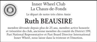Ruth Beausire, 22 août 2021